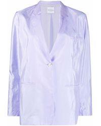 Roseanna Taffetas Joseph Single-breasted Blazer - Purple