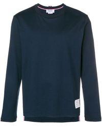 Thom Browne Loose fit longsleeved T-shirt - Blu