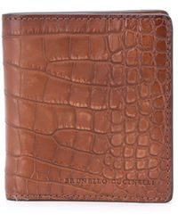 Brunello Cucinelli フラップ財布 - ブラウン