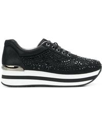 Gianni Renzi - Floral Embellished Sneakers - Lyst