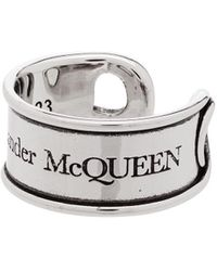Alexander McQueen Anello inciso - Multicolore