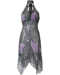 Giorgio Armani Pre-Owned ホルターネック ドレス - ブルー