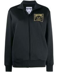 Moschino Teddy Bear Zipped Sweatshirt - Black