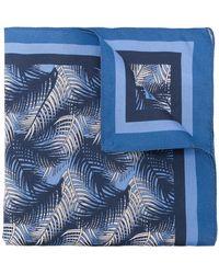 Ermenegildo Zegna - Leaf Print Pocket Square - Lyst