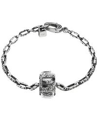 Gucci - Bracelet With Square G Cube In Silver - Lyst
