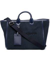 Dolce & Gabbana ロゴ ハンドバッグ - ブルー