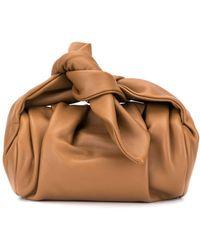 Rejina Pyo Nane Knotted Bow-handle Bag - Brown