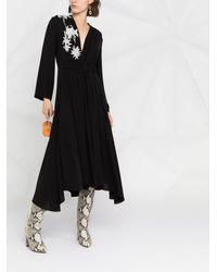 Giorgio Armani フローラル ドレス - ブラック