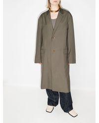Lemaire Abrigo con botones y solapa de muesca - Verde