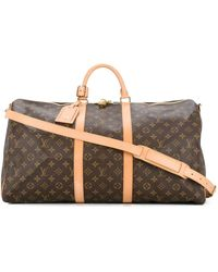 Louis Vuitton Pre-owned Keepall 55 Bandouliere Bag - Brown