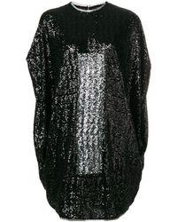 Gianluca Capannolo Short Sequined Dress - ブラック