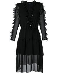 Olympiah Vestido Decote Ravena - ブラック