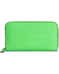 Burberry - Embossed Ziparound Wallet - Lyst