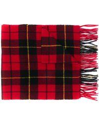 Polo Ralph Lauren タータンチェック スカーフ - レッド