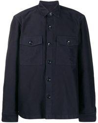 Tom Ford チェストポケット シャツ - ブルー