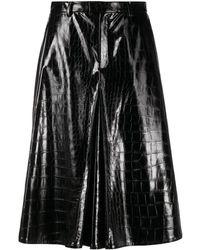 Maison Margiela Embossed Faux-leather Shorts - Black