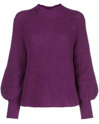 Apiece Apart Sequoia Mock-neck Sweater - Purple