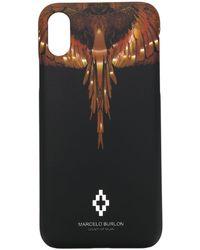 Marcelo Burlon Funda para iPhone X Wings - Negro