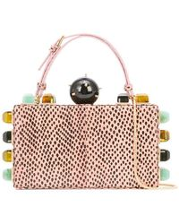 Tonya Hawkes - Embellished Top Handle Clutch - Lyst