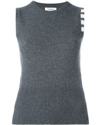 Thom Browne Knitted Sleeveless Top - Gray