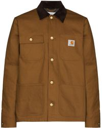 Carhartt WIP Michigan ロゴパッチ シャツジャケット - ブラウン