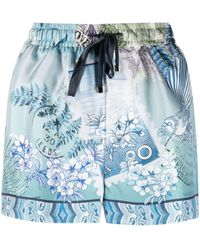 F.R.S For Restless Sleepers Shorts Glauco con stampa - Blu