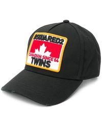 DSquared² Casquette Canadian Twins - Noir