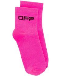 Off-White c/o Virgil Abloh Jacquard-Socken mit Logo - Pink