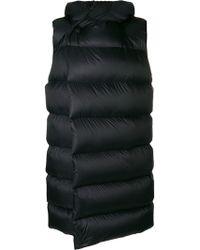 Rick Owens Sleeveless Puffer Coat - Black