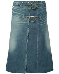Hysteric Glamour - Denim Skirt With Buckles - Lyst