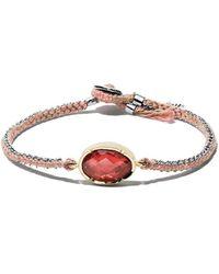Brooke Gregson 14kt Gold Handwoven Bracelet - Red