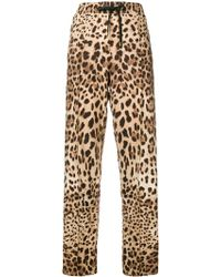 Dolce & Gabbana - レオパード ストレートパンツ - Lyst