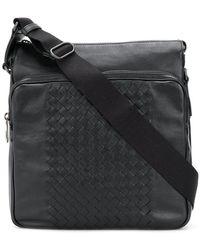 Bottega Veneta - Nero Intrecciato Nappa Messenger Bag - Lyst