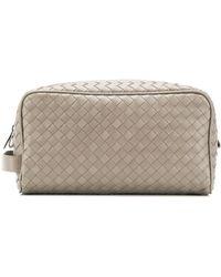 Bottega Veneta Classic wash bag - Gris