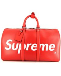 Louis Vuitton X Supreme 2017 Pre-owned Keepall Travel Bag - Red