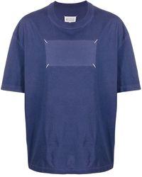Maison Margiela ステッチディテール Tシャツ - ブルー