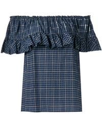 Hache - Ruffled Blouse - Lyst