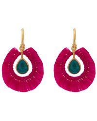 Katerina Makriyianni - Fringed Gold Vermeil Apatite Earrings - Lyst