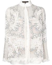 Biyan - Floral Embroidered Jacket - Lyst