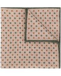 Eleventy Floral Pattern Pocket Square - Multicolour
