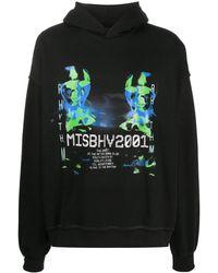 MISBHV プリント パーカー - ブラック
