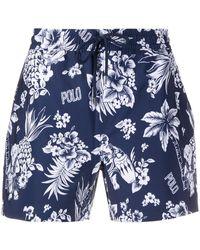 Polo Ralph Lauren Zwembroek Met Bloemenprint - Blauw