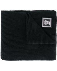 Versace ロゴパッチ スカーフ - ブラック