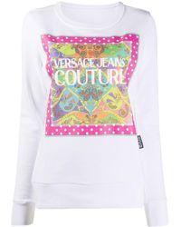 Versace Jeans Couture Paisley Fantasy スウェットシャツ - ホワイト
