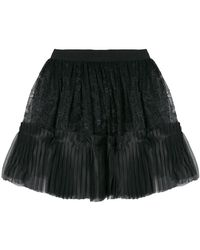 Amen - Full Lace Pleated Skirt - Lyst