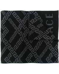 Versace Écharpe Greek Key - Noir