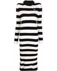 Lacoste ストライプ ドレス - ホワイト