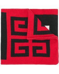 Givenchy Geborduurde Sjaal Met Logo - Rood