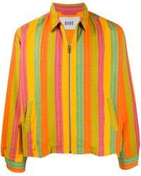 Bode ストライプ シャツジャケット - オレンジ
