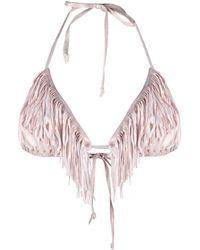 Maria Lucia Hohan Bahia Tassel-detail Bikini Top - Pink